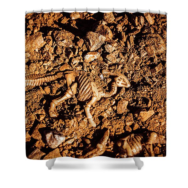 Bones From Ancient Times Shower Curtain