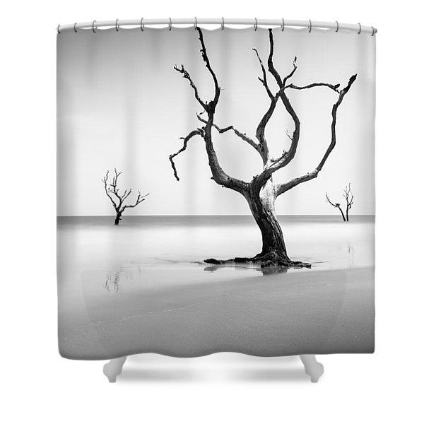 Boneyard Beach Xiii Shower Curtain