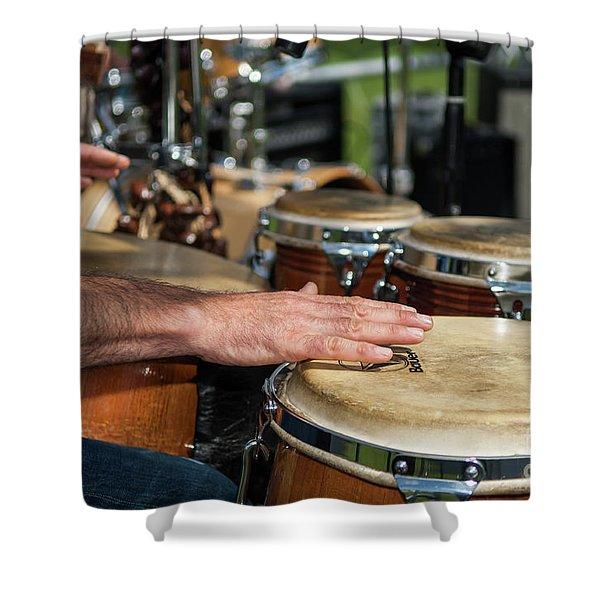 Bongo Hand Drums Shower Curtain