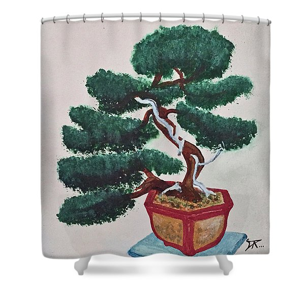 Bonsai #3 Shower Curtain