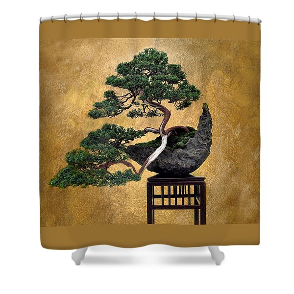 Bonsai 3 Shower Curtain