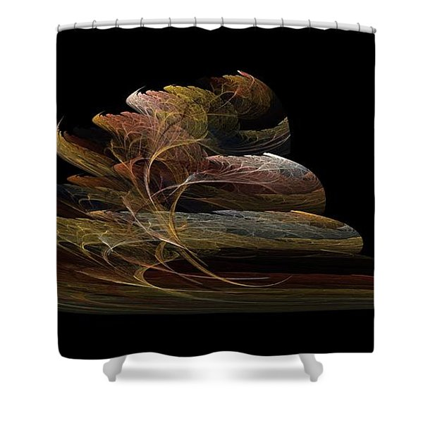 Bonsai On Black Shower Curtain