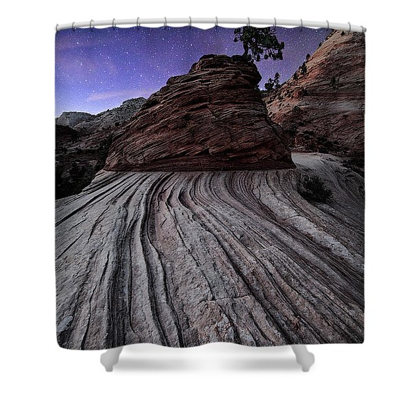 Bonzai In The Night Utah Adventure Landscape Photography By Kaylyn Franks Shower Curtain