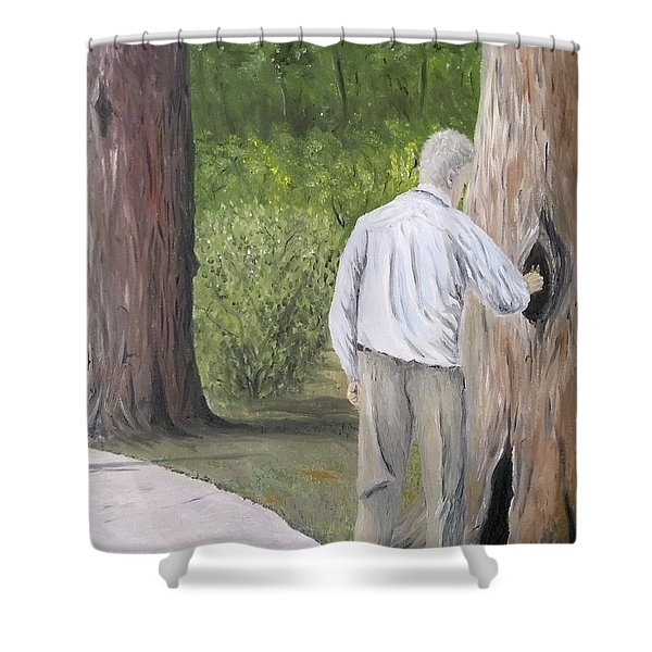Shower Curtain featuring the painting Boo by Kevin Daly