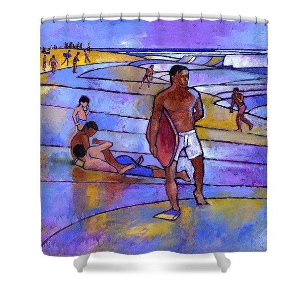 Boogieboarding At Sandy's Shower Curtain
