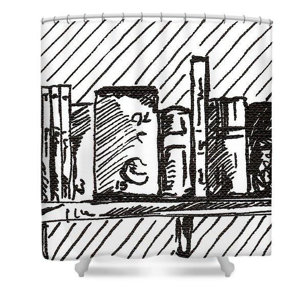 Bookshelf 1 2015 - Aceo Shower Curtain