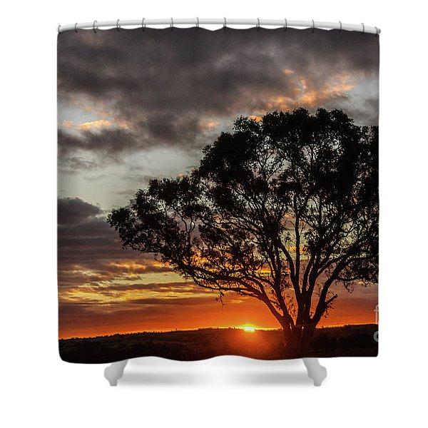 Boorowa Sunset Shower Curtain