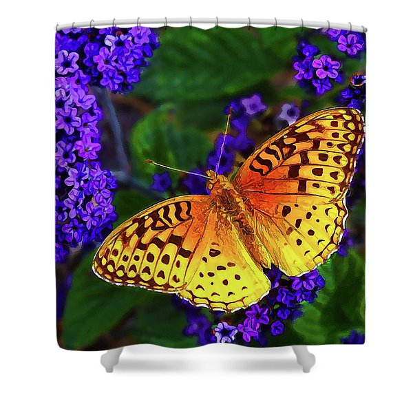 Boothbay Butterfly Shower Curtain