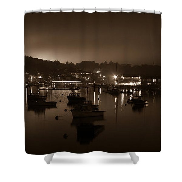 Boothbay Harbor At Night Shower Curtain