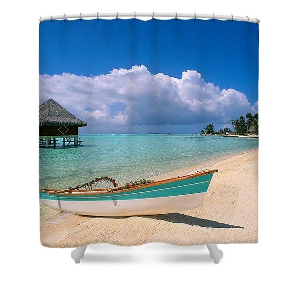 Bora Bora, Hotel Moana Shower Curtain