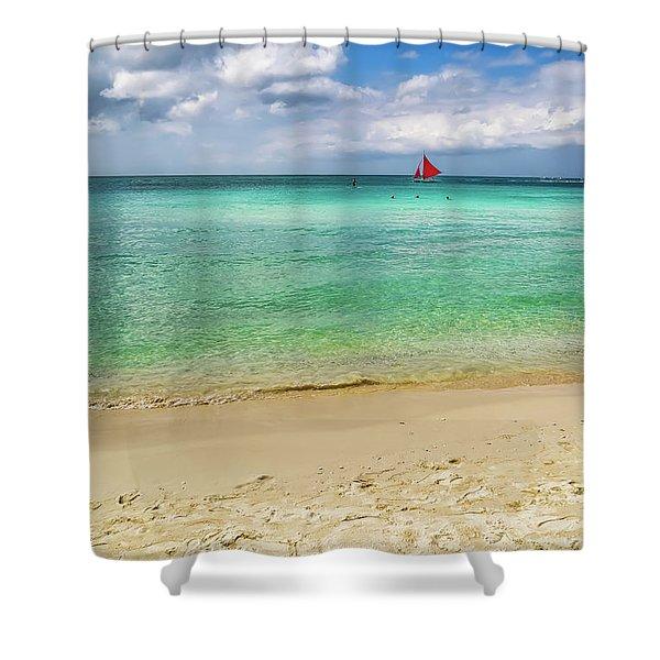 Boracay Seascape Shower Curtain
