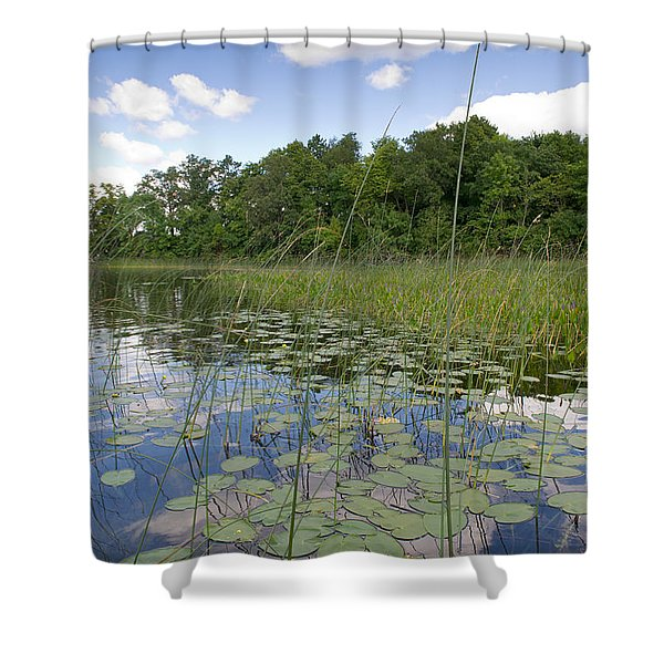 Borden Lake Lily Pads Shower Curtain