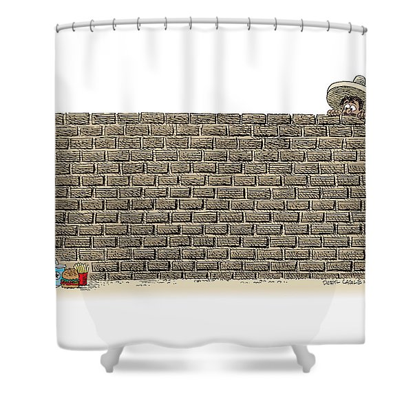 Border Wall Shower Curtain