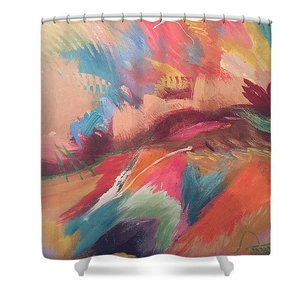 Borderland Shower Curtain