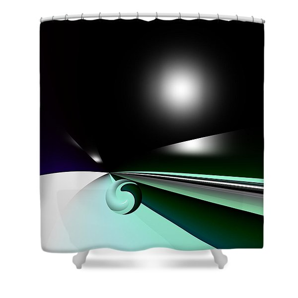 Borderling Shower Curtain