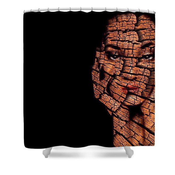 Shower Curtain featuring the digital art Bored Stiff by ISAW Company
