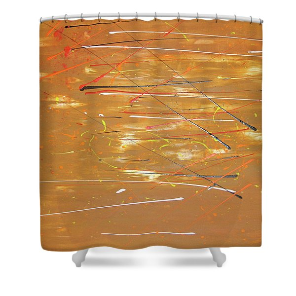 Shower Curtain featuring the painting Born Again by Michael Lucarelli