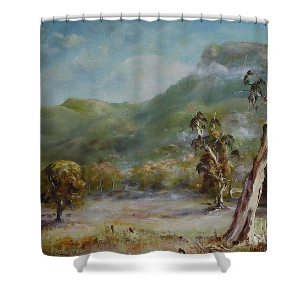 Boronia Peak Shower Curtain