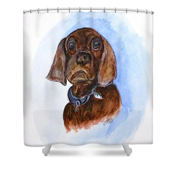 Bosely The Dog Shower Curtain