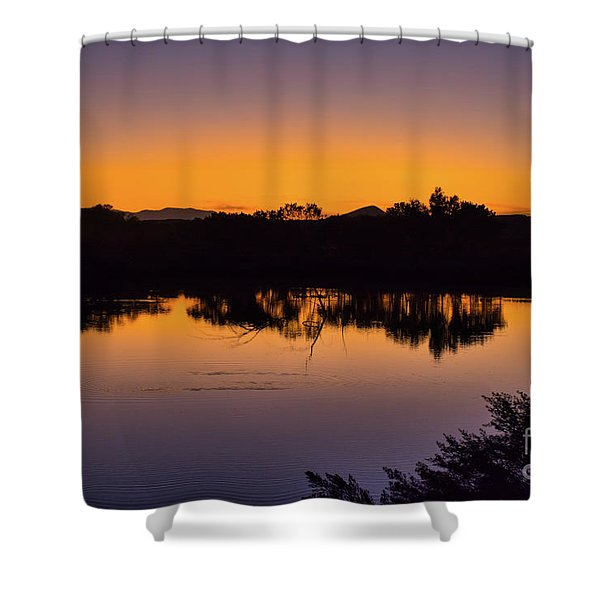 Bosque Del Apache Sunset Shower Curtain