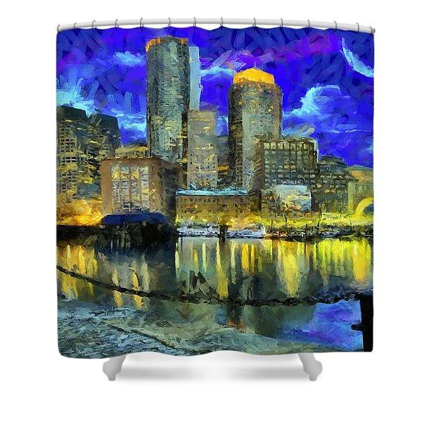 Boston 1 Shower Curtain