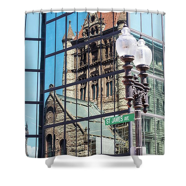 Boston At Different Angle Shower Curtain