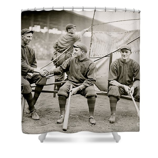 Boston Baseball Players   Gowdy, Tyler, Connolly Shower Curtain