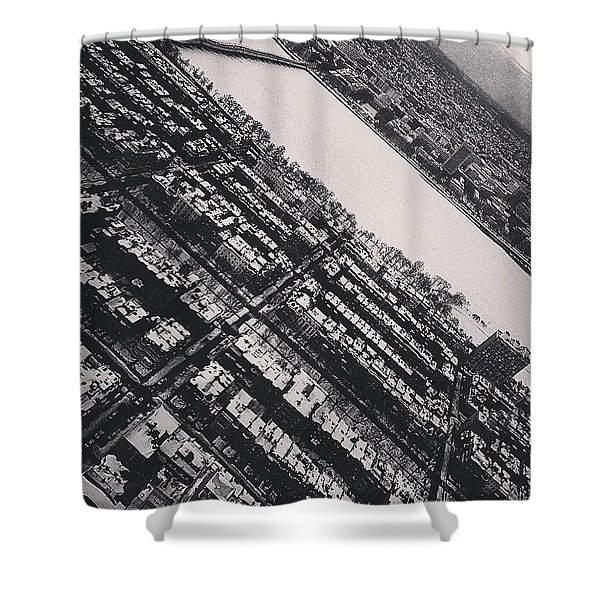 Black And White Boston Shower Curtain