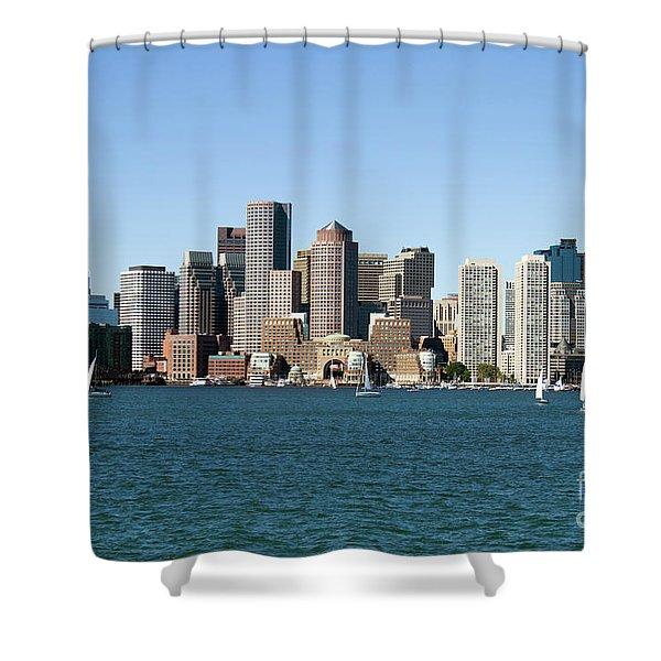 Boston City Skyline Shower Curtain