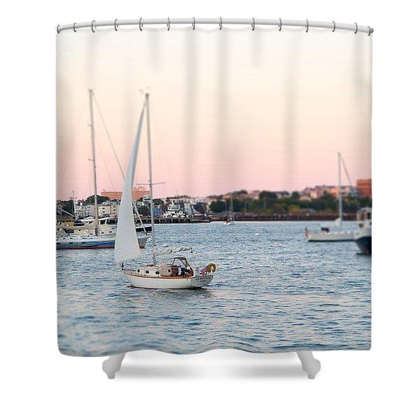 Boston Harbor View Shower Curtain