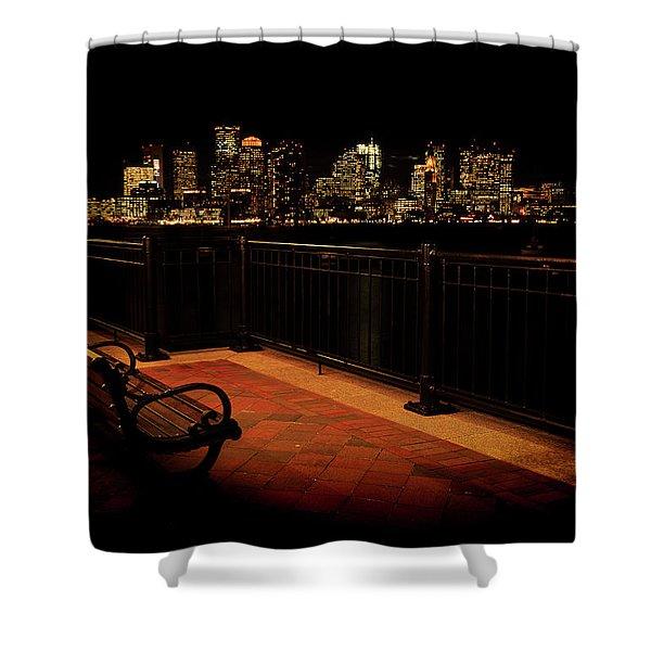 Boston Lamplight Shower Curtain