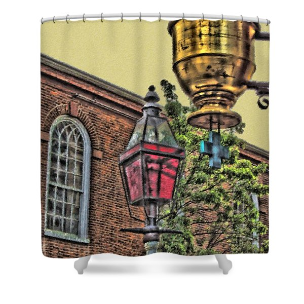 Boston Medicine Shower Curtain