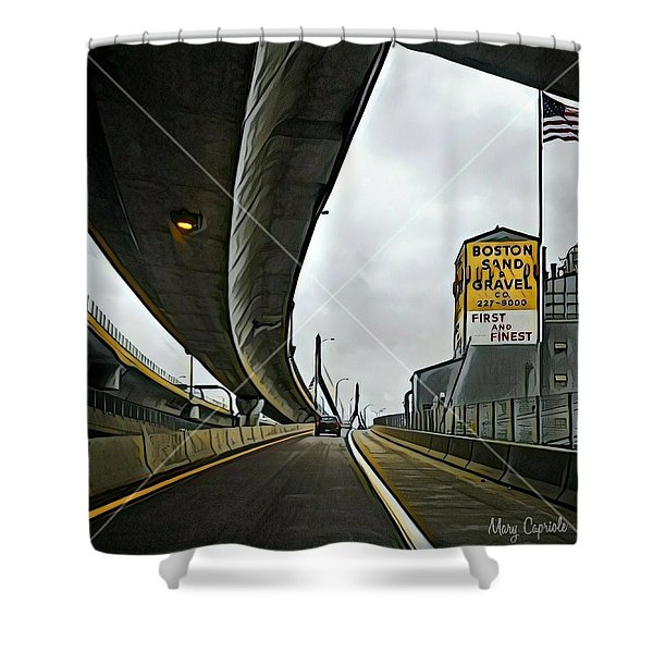 Boston Sand And Gravel  Shower Curtain