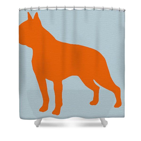 Boston Terrier Orange Shower Curtain
