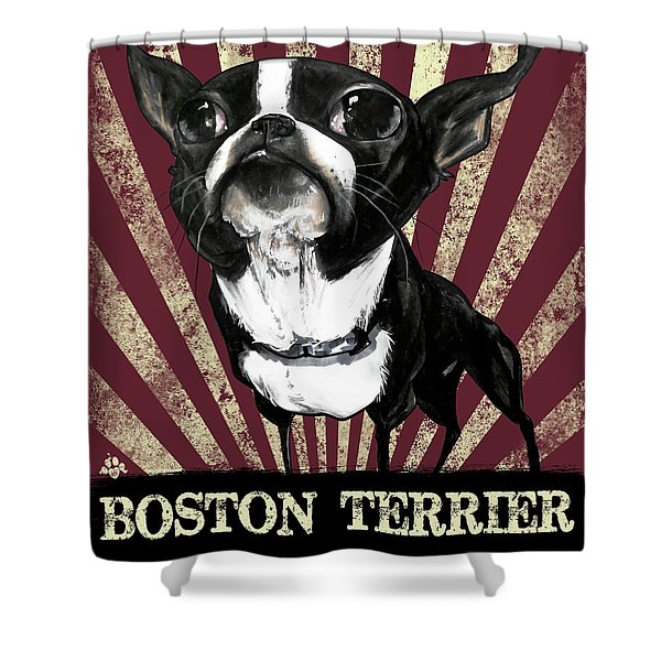 Boston Terrier Revolution Shower Curtain