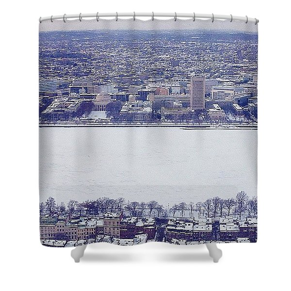 Winter On The Charles  Shower Curtain