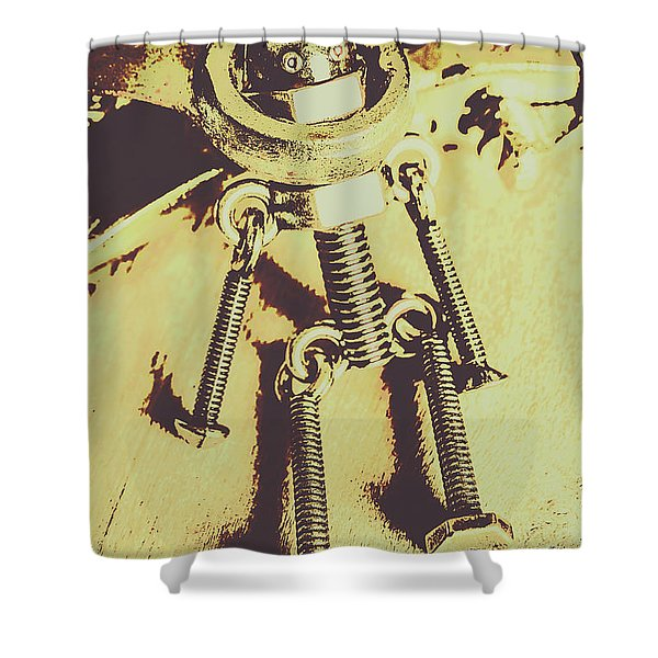Bot The Builder Shower Curtain