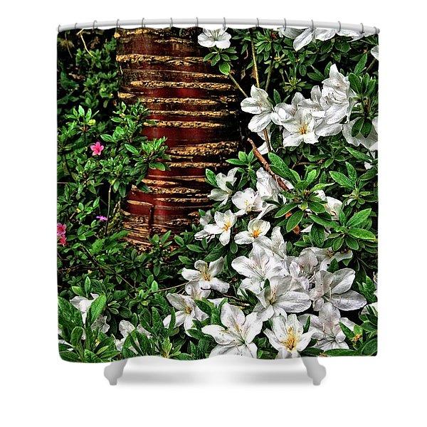 Botanic Garden Flowers Shower Curtain