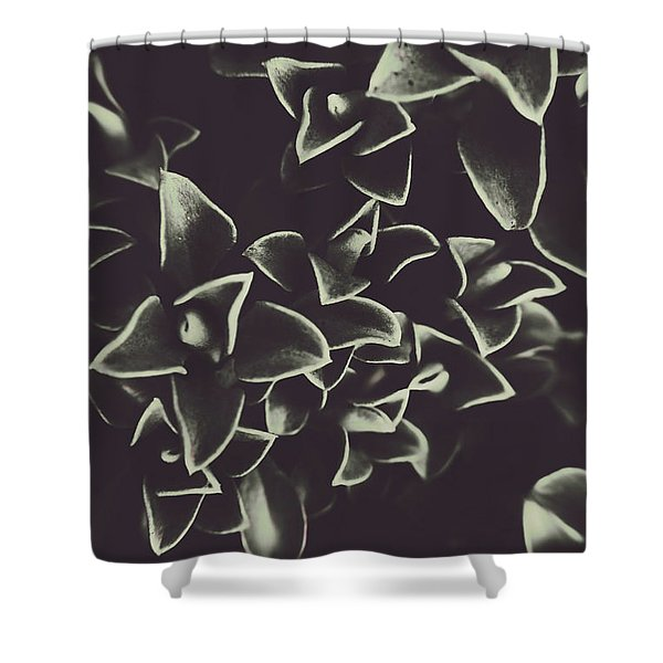 Botanical Blooms In Darkness Shower Curtain