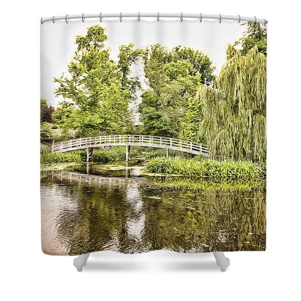 Botanical Bridge - Van Gogh Shower Curtain