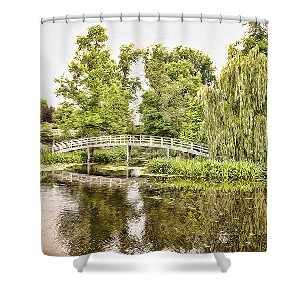 Botanical Bridge - Van Gogh Shower Curtain