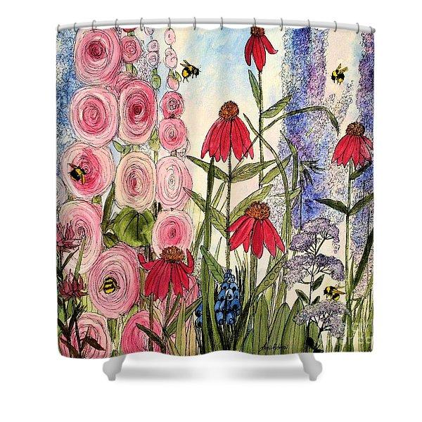 Botanical Wildflowers Shower Curtain