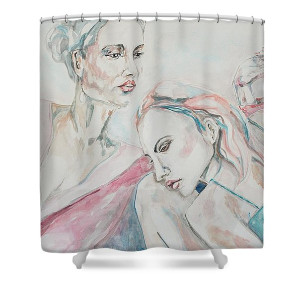Both Sides Now Shower Curtain
