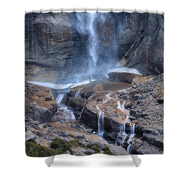 Bottom Part Of Upper Yosemite Waterfall Shower Curtain