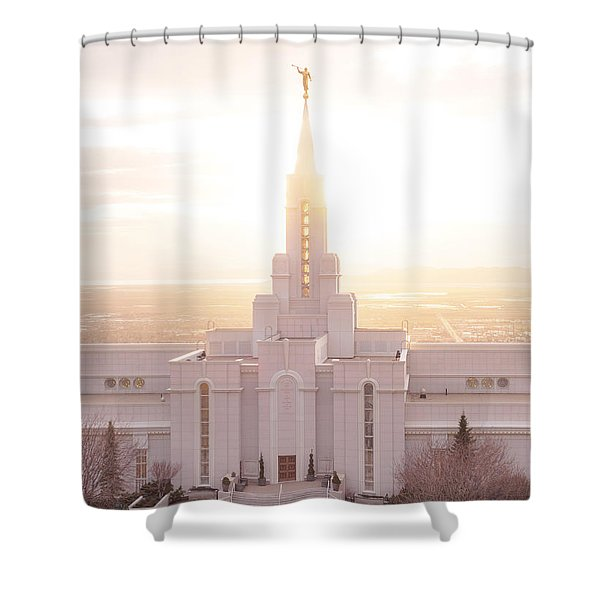 Bountiful Golden Glow Shower Curtain