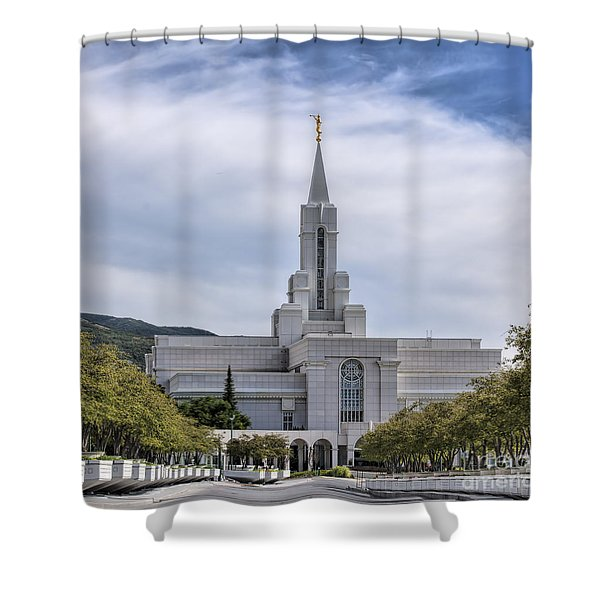 Bountiful Temple In Summer Shower Curtain