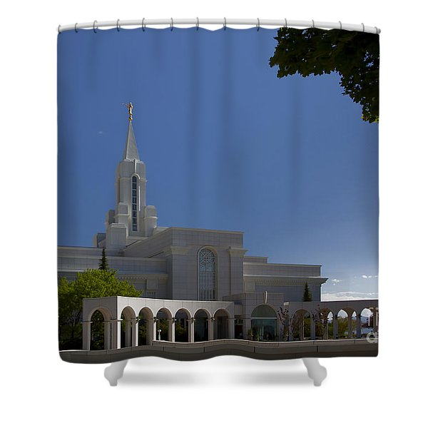 Bountiful Utah Temple Entrance Shower Curtain