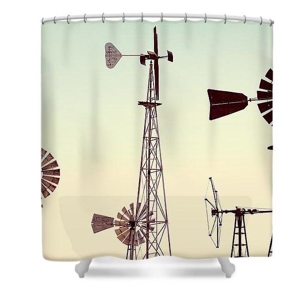 Bountiful Windmills Shower Curtain