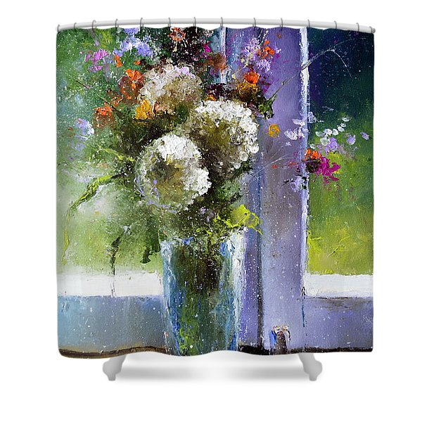 Bouquet At Window Shower Curtain