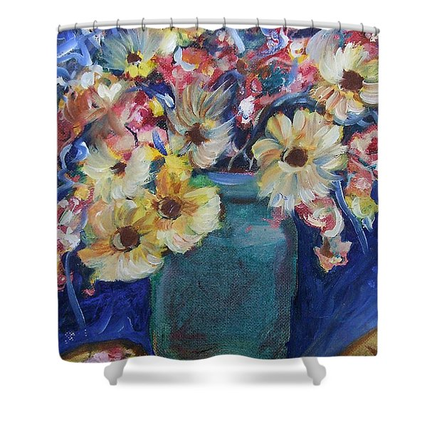 Bouquet Flowers Of Blue  Shower Curtain
